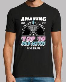 t-shirt vintage des années 1950 à 60 rockabilly USA