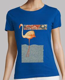 t-shirt vintage girl pink flamingo