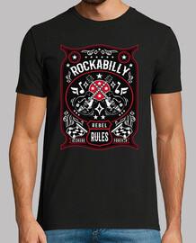 t-shirt vintage musica rockabilly rocker vintage rock e roll usa chitarre