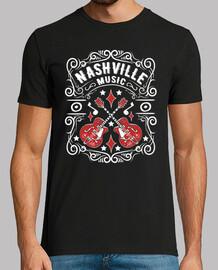 t-shirt vintage nashville country music tennessee chitarre rockabilly vintage