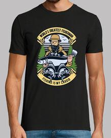 t-shirt vintage pescatore stile di pesce vintage