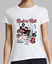 t-shirt vintage pin up rockabilly hot rod anni '50