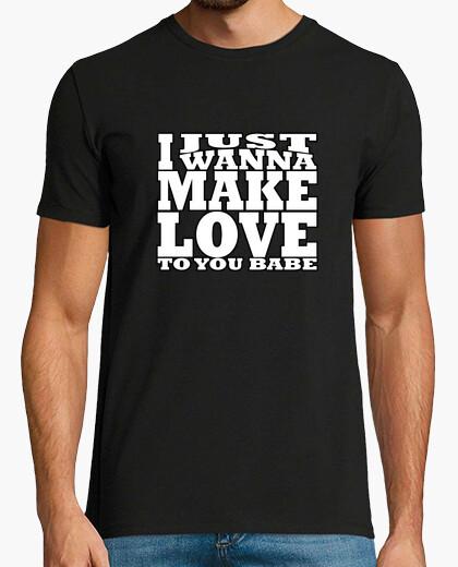 T-shirt voglio solo make amore bianco