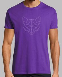 t-shirt volpe poligonale