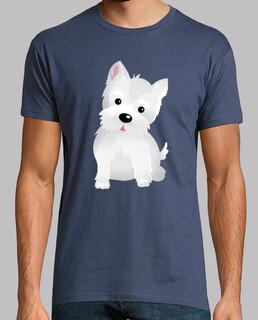 t-shirt westlicher hund