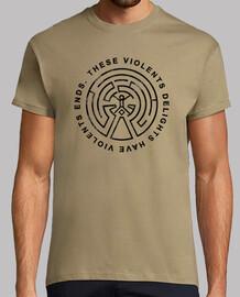 t-shirt westworld labirinto, manica corta