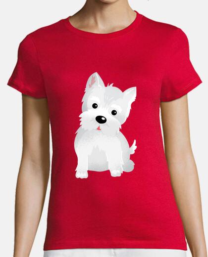 t-shirt westy dog
