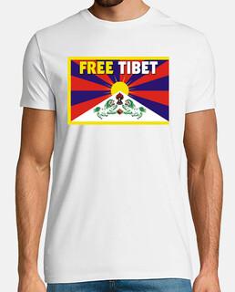 t-shirt white manga unisex short - free tibet