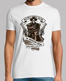 t-shirt wild west cowboy cultura western