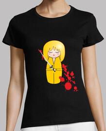 t-shirt yellow kokeshi beatrix (kill bill)