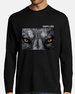 t-shirt yeux de groupe de loup