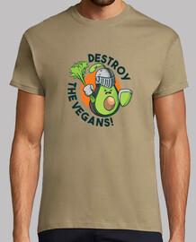 t-shirt zerstören die veganer
