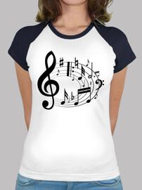 T-shirts de base-ball de la musique
