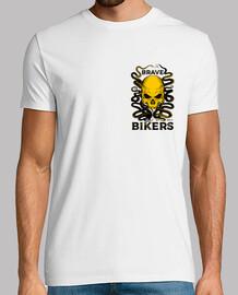 t-t-shirt bianca octopus skull