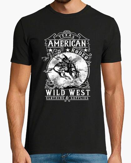 T shirt american wild west vintage cowboy retro texas t-shirt