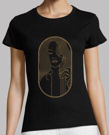 t shirt art deco girl retro vintage style