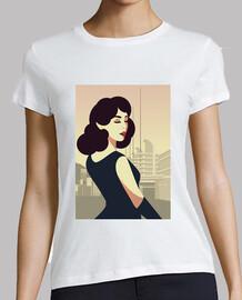 t shirt art deco retro girls vintage art women