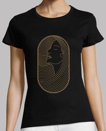 t shirt art deco style girl retro vintage women