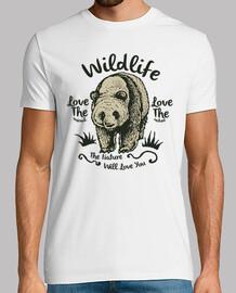 t shirt bear panda animal wildlife retro vintage nature love