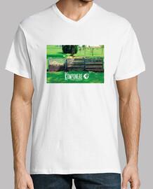 T shirt blanc pour homme logo Komponere vert