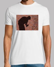 T shirt, blanc skwall