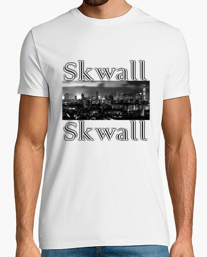 Tee-shirt T shirt, blanc, Skwall