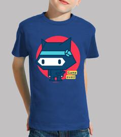 t shirt boy ninja cat (various colors and sizes)