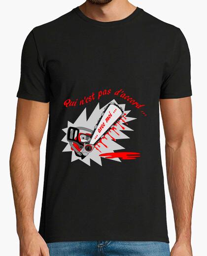 Tee-shirt t shirt caractere qui n'est pas d'accord FS homme