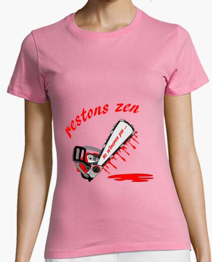 Tee-shirt t shirt enerver restons zen FC femme