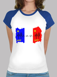 t shirt france 2018 flag electrocardiogram