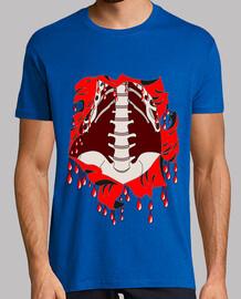 t shirt halloween zombie squelette