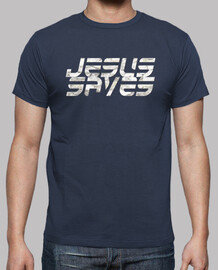 T Shirt Homme - Jesus Saves - Stone