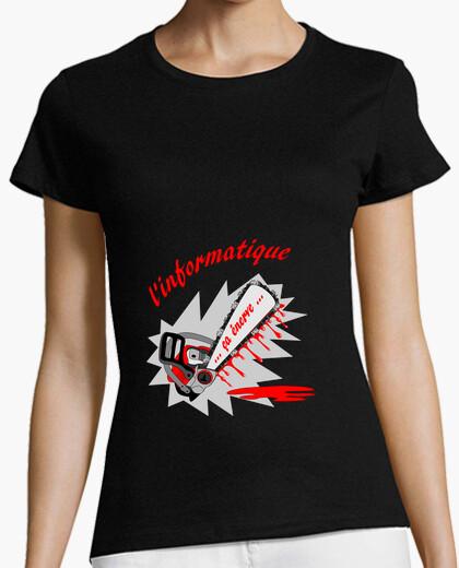 Tee-shirt t shirt Informatique enerve FS femme