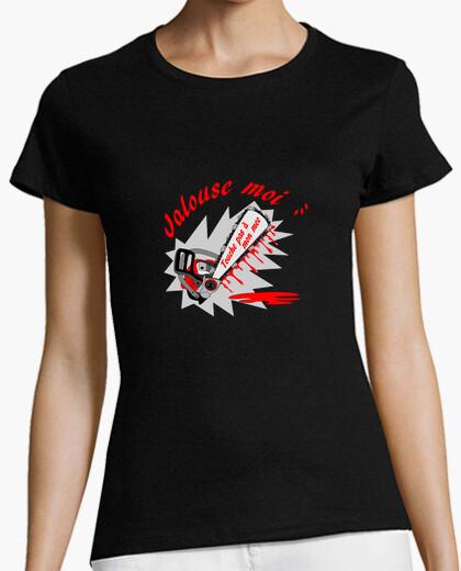 Tee-shirt t shirt jalouse noir