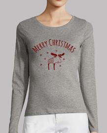T shirt manche longue femme Merry Christmas