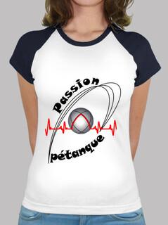t shirt passion petanque woman fc electrocardiogram