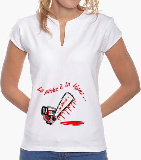 Tee-shirt t shirt peche a la ligne FC femme