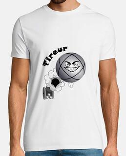 t shirt pétanque tireur boule existe en pointeur