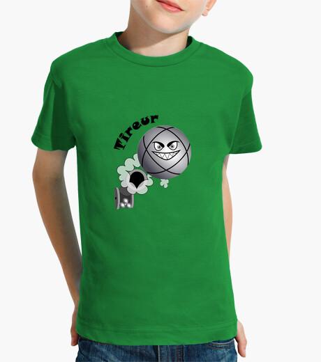 Vêtements enfant t shirt pétanque tireur enfant boule existe en pointeur N
