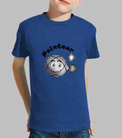 t shirt pointer bola de niño petanca existe en tirador n