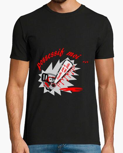 Tee-shirt t shirt possessif moi  noir
