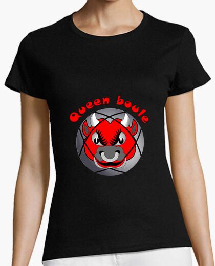 Tee-shirt t shirt Queen boule reine pétanque