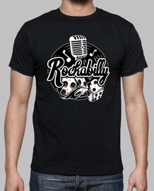 t shirt rock music rockabilly vintage rockers retro rock and roll dice microphone