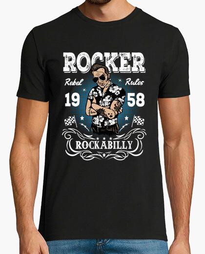 Tee-shirt t shirt Rocker rockabilly 1958 rock retro