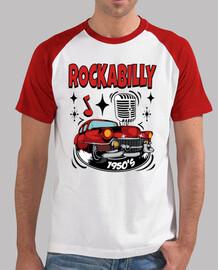 t shirt rockera vintage rockabilly music rocker 1950s retro rock and roll american classic cars usa