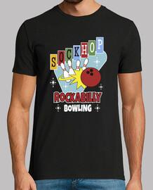t shirt sock hop rockabilly bowling 1950s usa