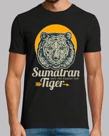 t shirt tiger animals jungle jungle retro style sumatran tiger