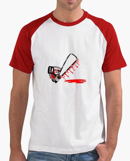 Tee-shirt t shirt tronconneuse sanglante à personnaliser