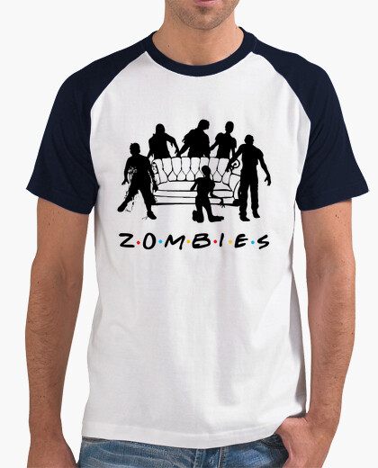 T shirt two colors man zombies t-shirt