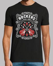 t shirt vintage rock rockers rockabilly music guitars retro rock and roll usa